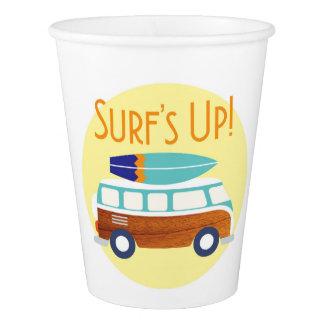 Vintage Surfer Paper Cups