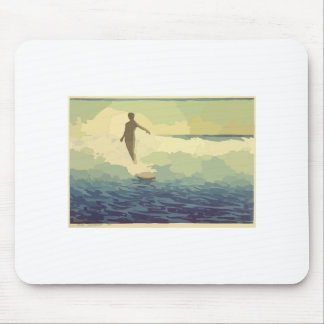 Vintage Surfing Mouse Pad