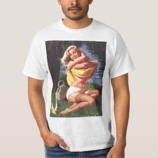 Vintage surfing Pin Up Girl shirt