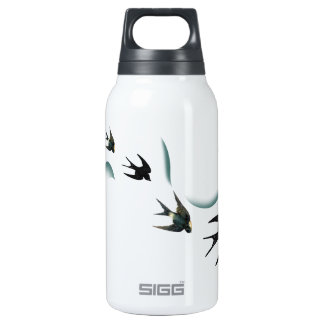 Vintage Swallow Birds Art Insulated Water Bottle