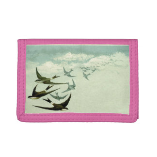 Vintage swallow walltet trifold wallet
