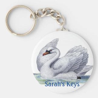 Vintage Swan Key Chain