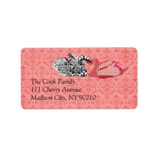Vintage Swans Label Address Label