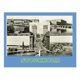 Vintage Sweden, Stockholm multiview Postcard