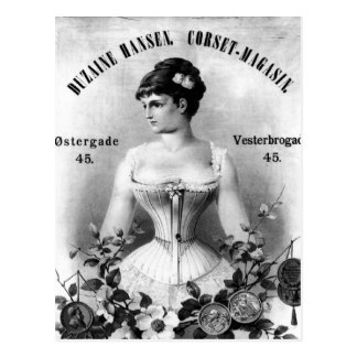 Vintage Swedish Corset Advertisement Postcard