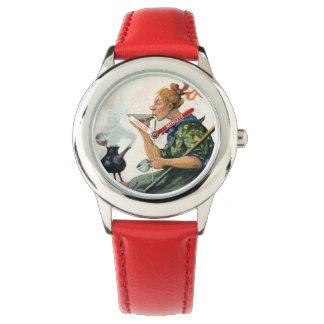 Vintage Swedish Easter painting clock Watch