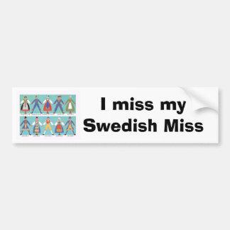 Vintage Swedish regional costumes Bumper Sticker