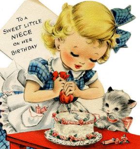 Vintage Sweet Niece Birthday Greeting Card