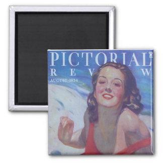 Vintage Swimsuit 1934 Magnet