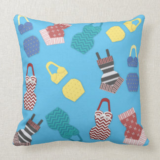 Vintage Swimsuits Throw Pillow