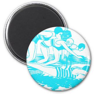 Vintage Swimwear 2 Inch Round Magnet