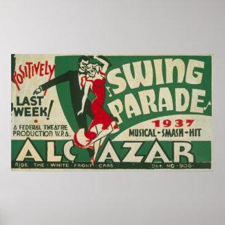 Vintage Swing Parade Poster