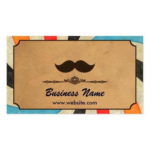 Vintage Swirl Barbershop Business Cards