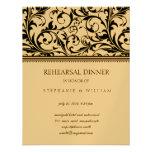 Vintage Swirl Rehearsal Dinner Card