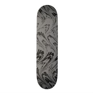 Vintage Swirls Charcoal Gray Black Waves Skateboard Deck