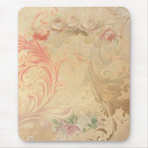 Vintage Swirls Floral Mousepad