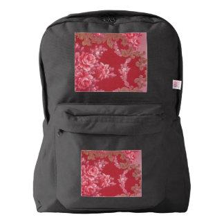 Vintage Swirls Floral Roses Backpack