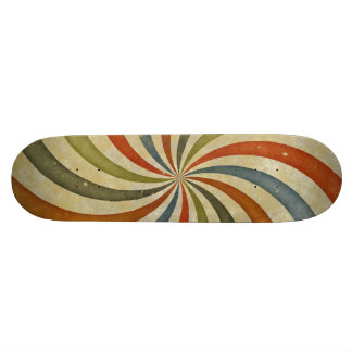 Vintage swirls pattern skateboard deck