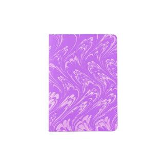 Vintage Swirls White Lavender Purple Waves Passport Holder