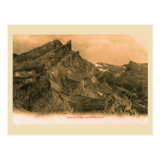Vintage Swiss Alps, Gemmi Hotel and Rinderhorn Postcard