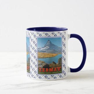 Vintage Swiss design,Zermatt, Matterhorn Mug