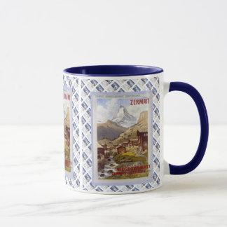 Vintage Swiss design, Zermatt Matterhorn Mug