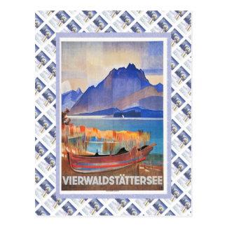 Vintage Swiss Railway Luzern Vierwaldstattersee Postcard
