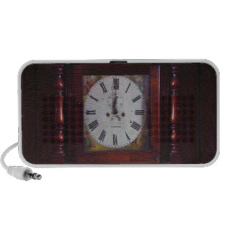 Vintage Swiss Wall Clock elegant design tan border Travelling Speaker