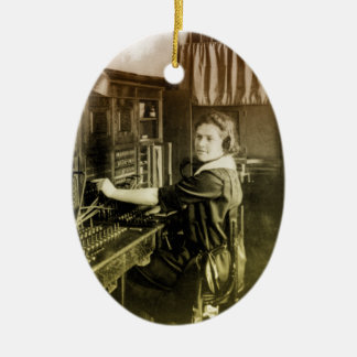 Vintage Switchboard Ceramic Ornament