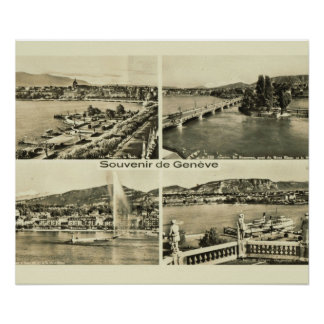 Vintage Switzerland, Geneva, 1912 Poster