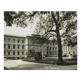 Vintage Switzerland, Geneva University 1930 Poster