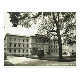 Vintage, Switzerland, Geneva, University, 1930s Postcard