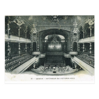 Vintage, Switzerland, Geneva, Victoria Hall Postcard