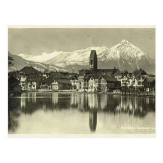 Vintage, Switzerland, Interlaken 1934 Postcard