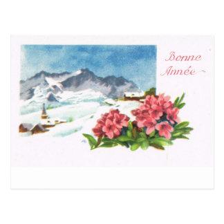 Vintage Switzerland   Jungfrau, Bonne Année Postcard