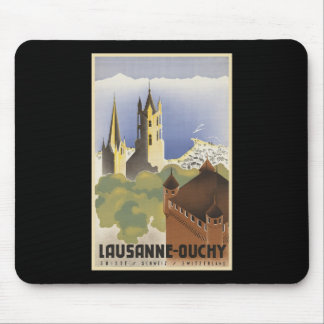 Vintage Switzerland Lausanne-Ouchy Mouse Pad
