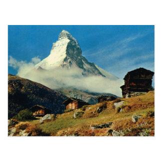 Vintage Switzerland Matterhorn, Valais Postcard