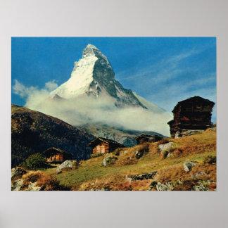 Vintage Switzerland, Matterhorn, Zermatt Poster