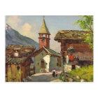 Vintage Switzerland   village in the Valais Postcard