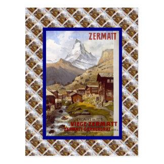 Vintage Switzerland, Zermatt Postcard