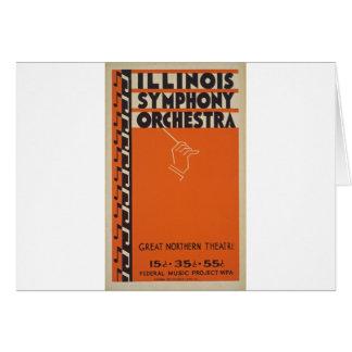 Vintage Symphony Orchestra Card