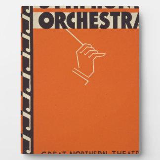 Vintage Symphony Orchestra Plaque