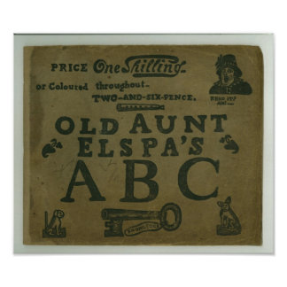 vintage T-shirt childrens old Aunt Elspa's ABC Poster