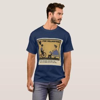 vintage T-shirt childrens V Velocipede Old school