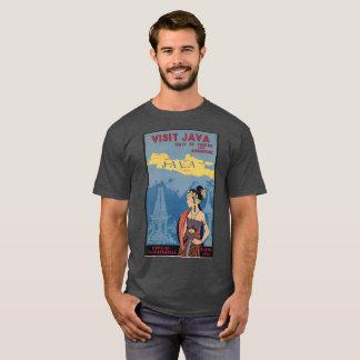 Vintage T-shirt Visit JAVA 36 hours BATAVIA old