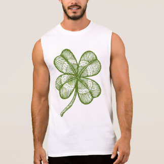 Vintage t-shirt with lucky four leaves clover.