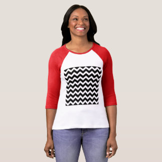 Vintage t-shirt with  zig  zag bw