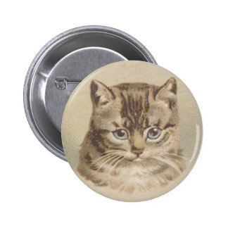 Vintage Tabby Cat 2 Inch Round Button