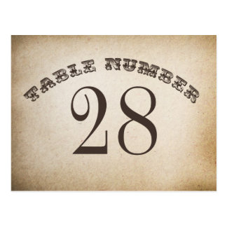 vintage table number cards