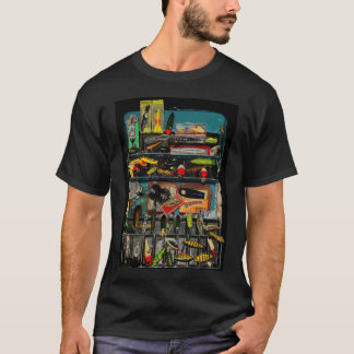 Vintage Tackle Box T-Shirt. T-Shirt